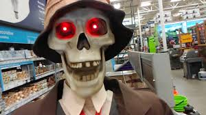 lowes halloween life size skeleton couple youtube