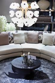 Sofa Round Stylish Room With Half Round Sofa Round Table Stock Image Image