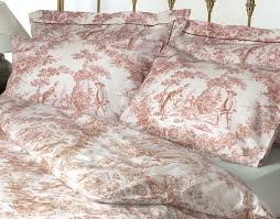 bedroom casual picture of decorative pattern red and blue linen