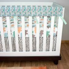 Outdoor Themed Baby Room - bear crib bedding baby boy bedding rail guards mint