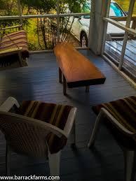 red oak slab coffee table barrack farms