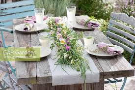 Summer Table Decorations Gap Gardens Early Summer Table Decoration Table Garland