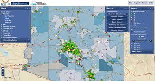 Arizona On Map Data Center Read On
