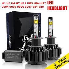 le h7 led pair car led headlight h4 h7 h11 h1 h3 h8 h9 h10 hb3 9005 hb4 9006