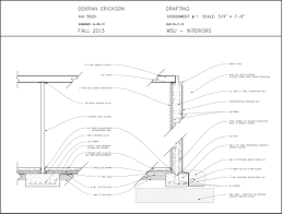 foundation section elevation autocad drawing for aia 5620 building
