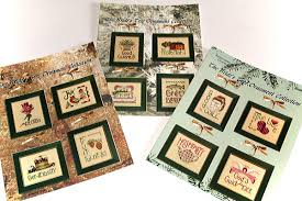 s tree ornaments cross stitch patterns set of 3 charts