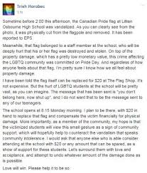 Flag You Down Edmonton Lgbt Flag Cut Down And Replaced