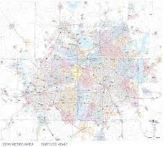 map of dallas fort worth dallas fort worth metro area 40x47