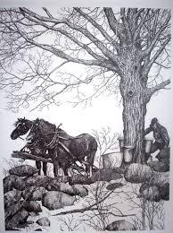 horses sapping u0026 ink print gene matra ink drawings