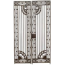pair of deco wrought iron gates for sale at 1stdibs