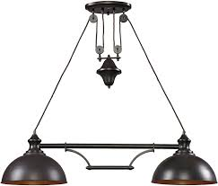 Linear Island Lighting by Elk 65150 2 44 By 11 Inch Farmhouse 2 Light Billiard Island
