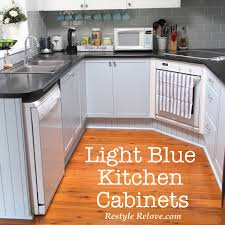 Light Blue Kitchen Cabinets by Kitchen Restyle Including Light Blue Kitchen Cabinets