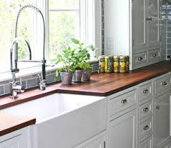 Kitchen Countertop Materials by Kitchen Fresh White Cabinet Colour And Farmhouse Sink Feat Ultra