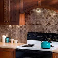 Fasade  In X  In Rings PVC Decorative Backsplash Panel In - Backsplash panel