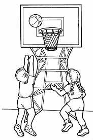basketball player coloring worksheets body preschool