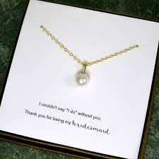 pearl necklace gifts images Bridesmaid gift ideas pearl bridesmaid necklace single pearl jpg