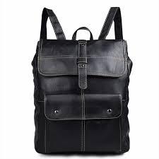 rucksack design augus genuine leather unique design unisex backpack school
