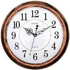 silent wall clocks adalene 13 inch large non ticking silent wall clock decorative