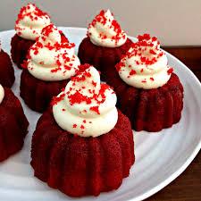 red velvet mini cakes with cream cheese frosting teta lizza u0027s