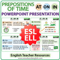prepositions of time at on in english grammar notes