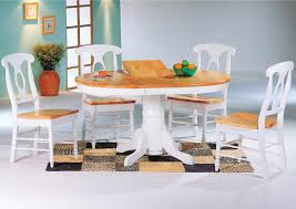natural wood kitchen table and chairs coaster damen white natural napoleon dining side chairs 4117