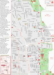 Chicago Printable Map by Chicago Map A Z List Of Favourite Locations For Visitors