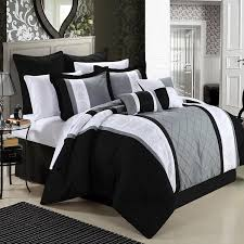 Silver Queen Comforter Set Black And Silver Bedding Black And Silver Comforter Sets Queen