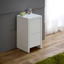 Small White Side Table White High Gloss Slim 2 Drawer Bedside Table Things I Like