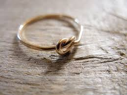 a knot ring 14k gold fill knot ring