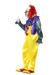 Clown Costumes Mens Scary Killer Clown Costume Mask Knife Halloween