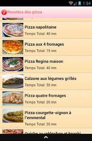 logiciel recette cuisine recettes des pizza en français android apps on play