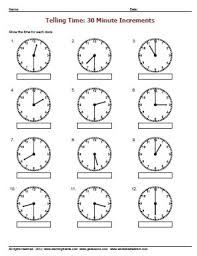 telling time half hour telling time worksheetsdirect