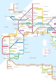 Roman Map The Roman Empire U0027s 250 000 Miles Of Roadways Imagined As A Subway