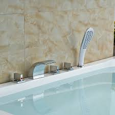 compare prices on bath mixer diverter online shopping buy low wholesale and retail promotion elegant deck mounted shower faucet waterfall tub spout mixer tap diverter faucet