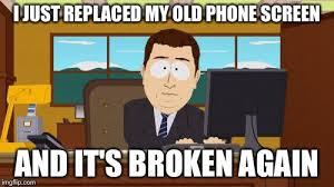 Broken Phone Meme - aaaaand its gone meme imgflip