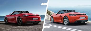old porsche spoiler porsche 718 boxster old vs new comparison carwow