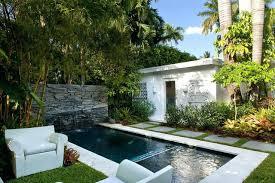 small lap pools soaking pool pool fountain small modern backyard concrete and
