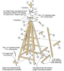 tuteur trellis plans woodworking projects plans trelly