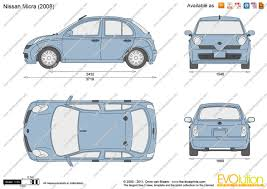 nissan micra 2004 the blueprints com vector drawing nissan micra