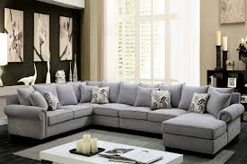 Gray Fabric Sectional Sofa Furniture Of America Skyler Ii Fabric Sectional Sofa Cm6156gy