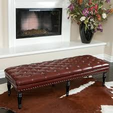 benches for living room tufted leather bench modern living room