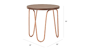 copper metal nightstand the land of nod