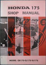 vintage factory service shop manual for honda cb175 cl175