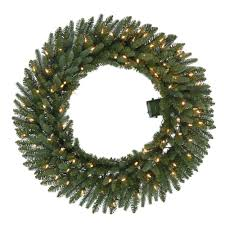 36 in pre lit b o led new meadow artificial wreath x
