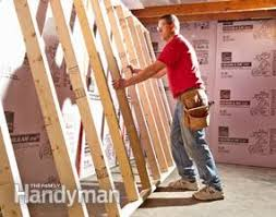 Basement Wall Insulation Options by How To Finish A Basement Wall Family Handyman