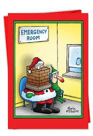 santa in the emergency room card nobleworkscards com