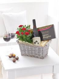 Wine Gift Basket Luxury Chocolates And Red Wine Gift Basket Montrose Flowers