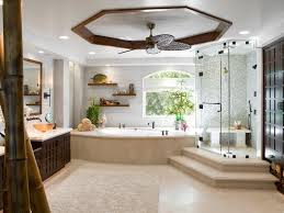 Beautiful Showers Bathroom Bathroom White Ellipse Tub Ceramic Brick Walls Glass Shower
