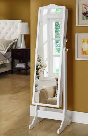 jewelry cabinet mirror free standing 125 outstanding for standing