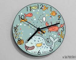 nursery wall clock etsy